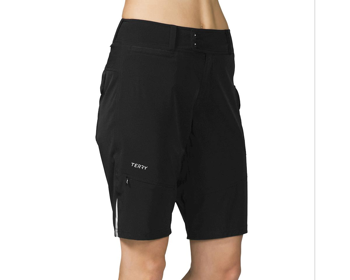 Image 4 for Terry Women's Metro Shorts Relaxed (Black)