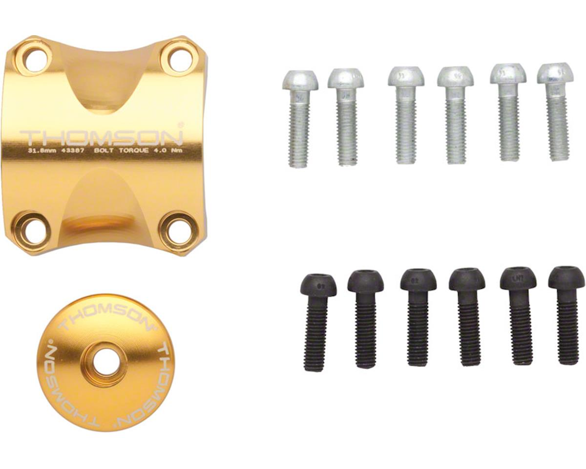 Thomson Stem Faceplate Dress Up Kit (Gold) (For X4) (31.8mm)