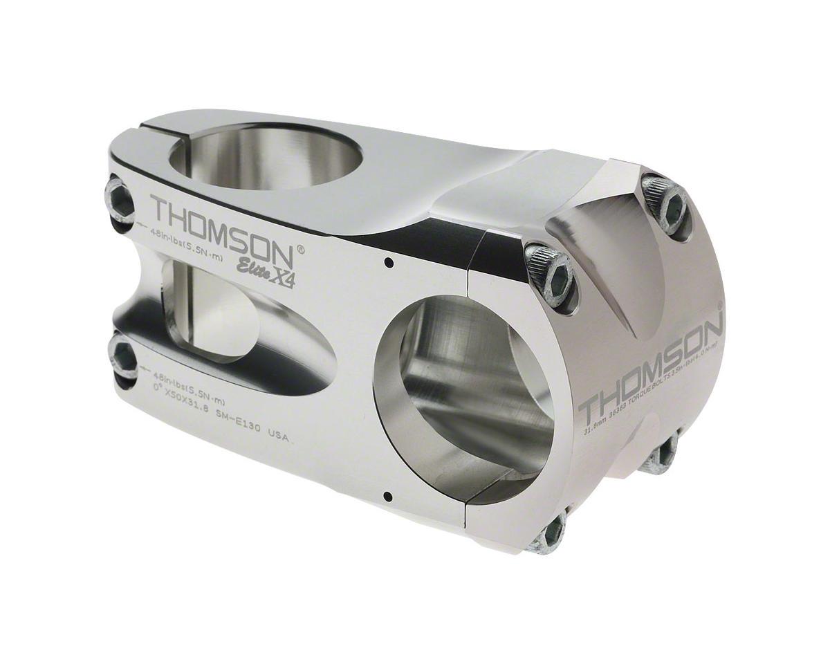 "Thomson Elite X4 Mountain Stem (Silver) (+/- 0°) (31.8mm) (1-1/8"" Threadless) (50mm)"