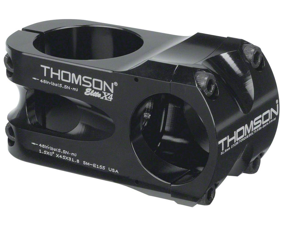 "Thomson Elite X4 Mountain Stem (Black) (45mm) (+/- 0°) (31.8mm) (1.5"")"