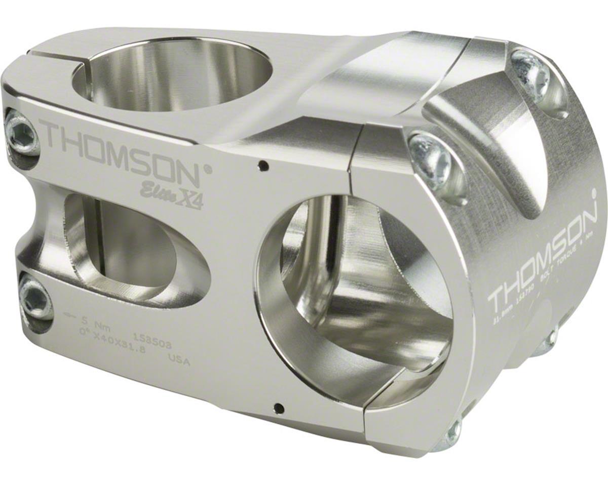 "Thomson Elite X4 Mountain Stem (Silver) (+/- 0°) (31.8mm) (1-1/8"" Threadless) (40mm)"