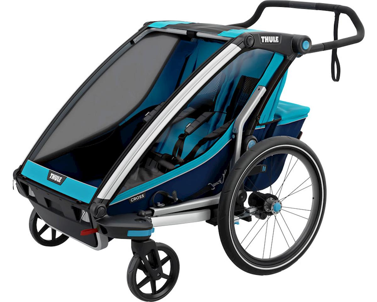 Thule Chariot Cross 2 Trailer and Stroller: Blue, 2 Child