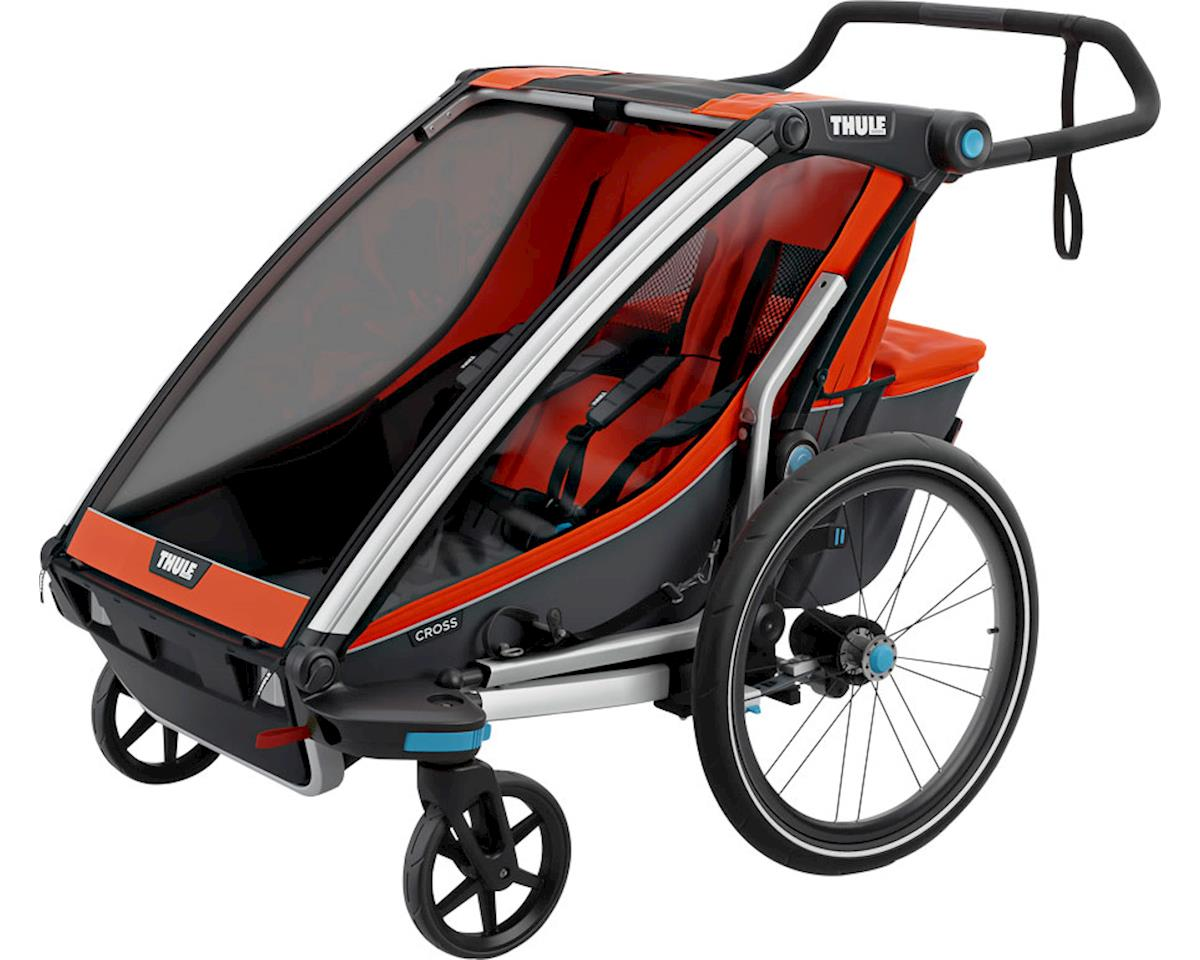 Thule Chariot Cross 2 Trailer and Stroller: Roarange, 2 Child