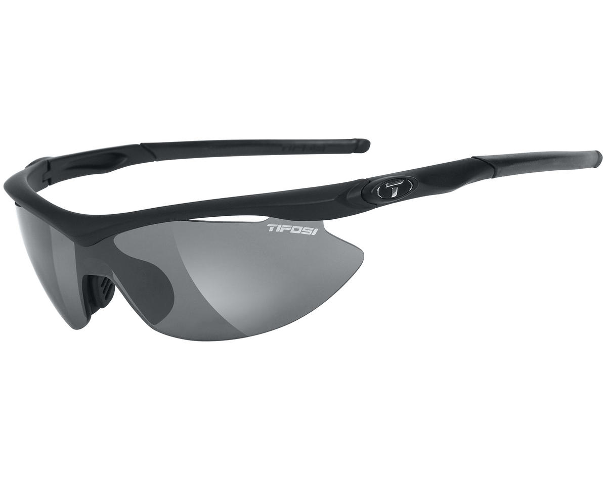 Tifosi Slip Sunglasses (Matte Black) (Interchangeable)