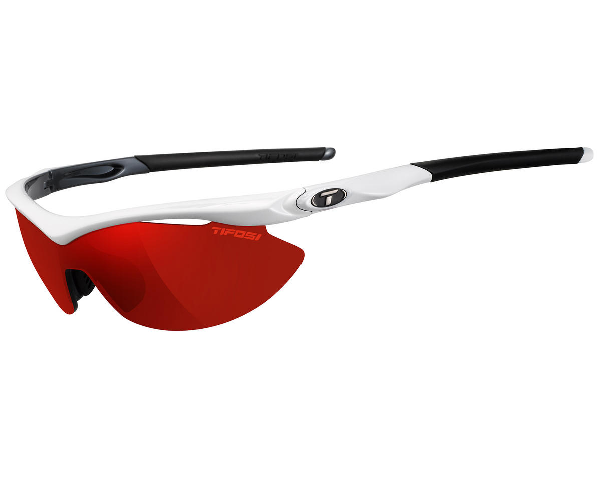 Tifosi Slip Sunglasses (White/Gunmetal) (Interchangeable)