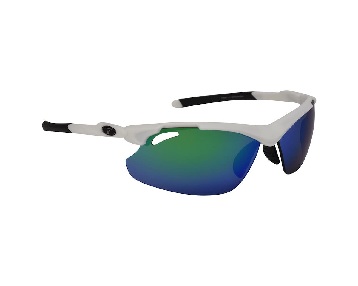 Image 1 for Tifosi Tyrant 2.0 Sunglasses - Matte White Clarion Green - Special Buy (Clarion Green/ Ac Red/ Clear)