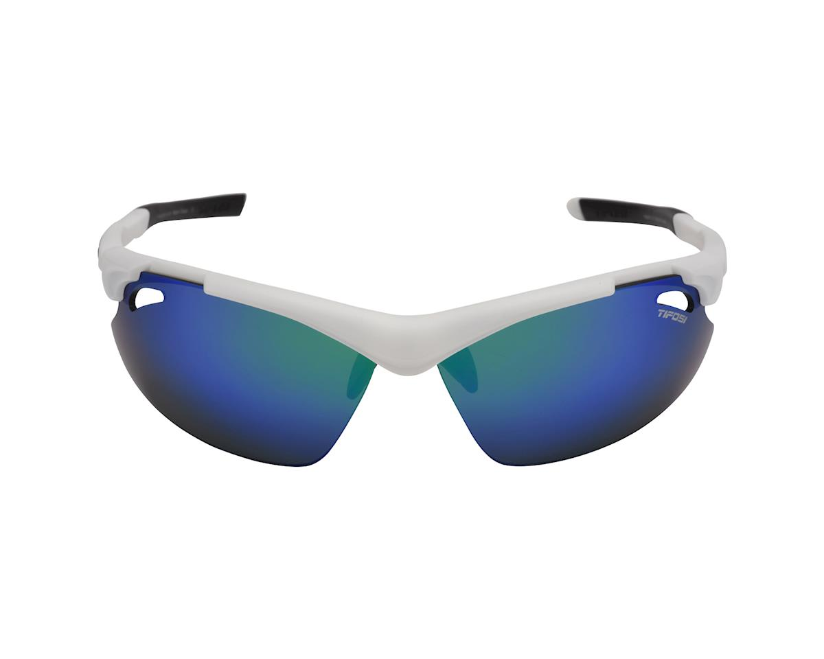 Image 2 for Tifosi Tyrant 2.0 Sunglasses - Matte White Clarion Green - Special Buy (Clarion Green/ Ac Red/ Clear)