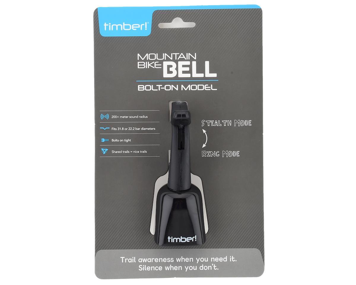Timber Mountain bike bell, black - bolt on