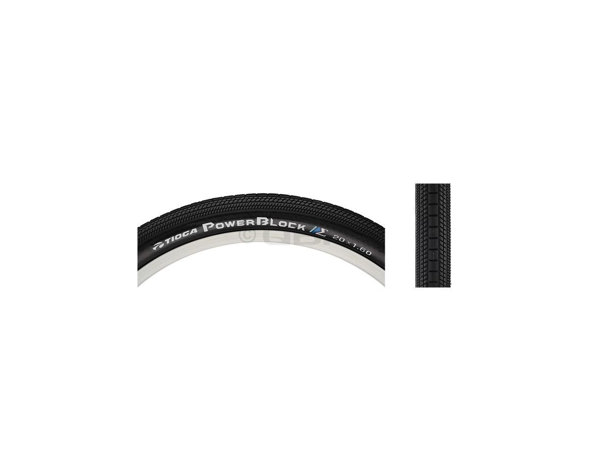 Tioga PowerBlock Tire - 20 x 1.4, Clincher, Wire, Black, 60tpi