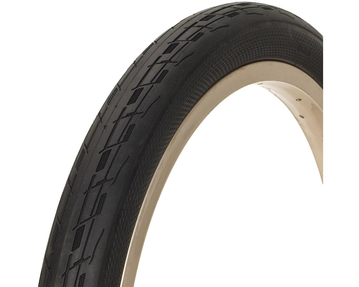 FASTR BLK LBL Tire: 20x1.85, Folding Bead, Black
