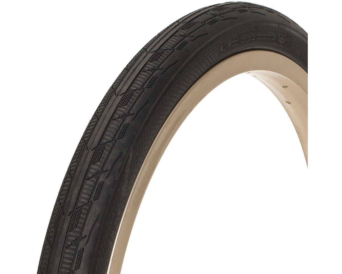 FASTR REACT BLK LBL Tire: 20x1.75, Folding Bead, Black