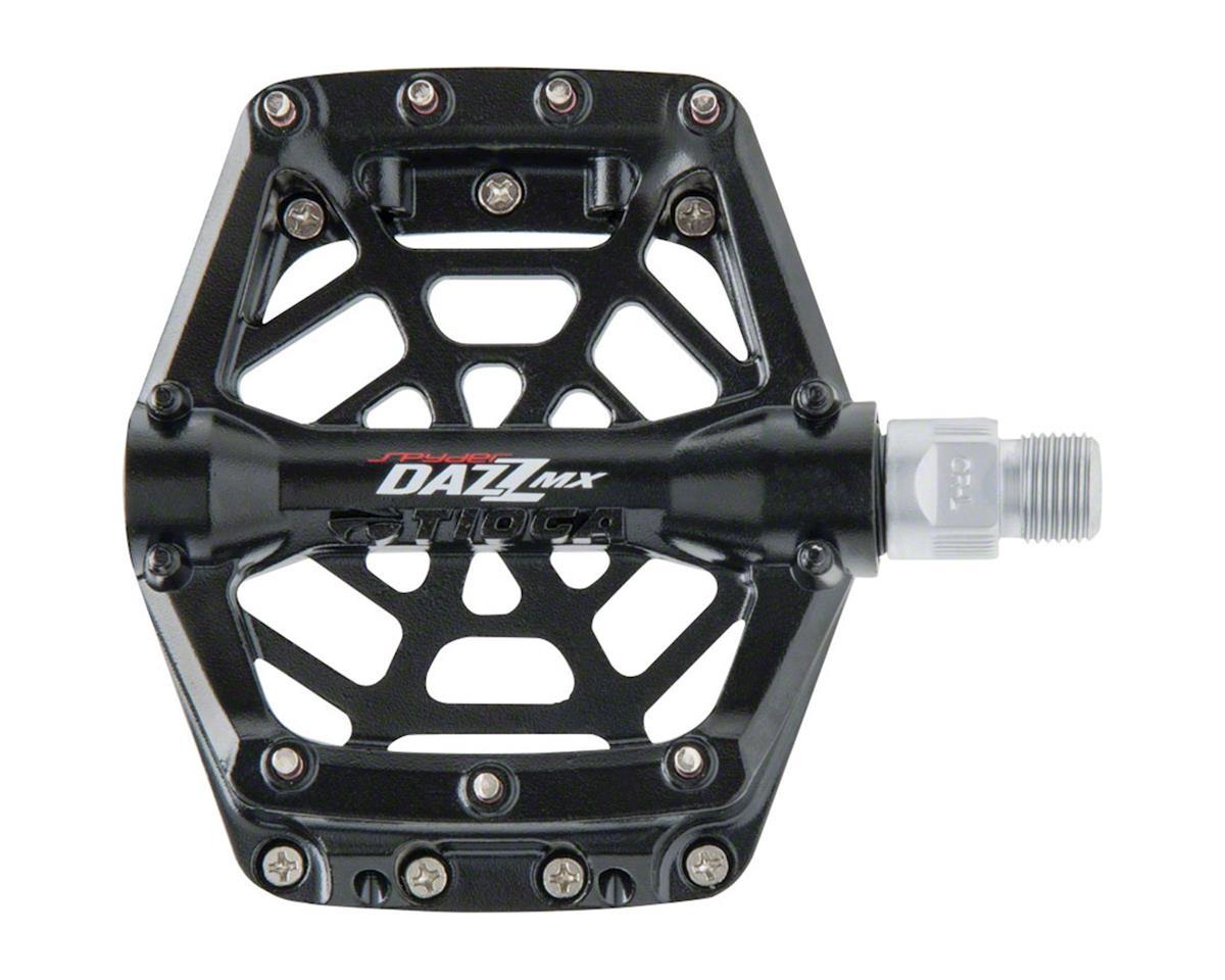 """Tioga DAZZ MX Pedals, 9/16"""" Alloy Platform, Black"""