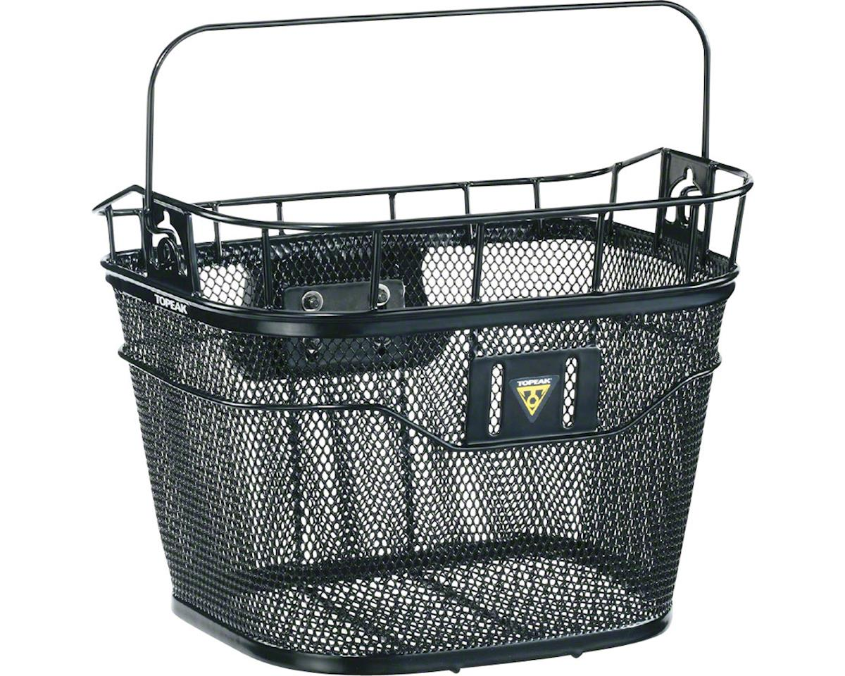 Image 2 for Topeak Front Basket w/ Fixer 3 Handlebar Bracket (Black)