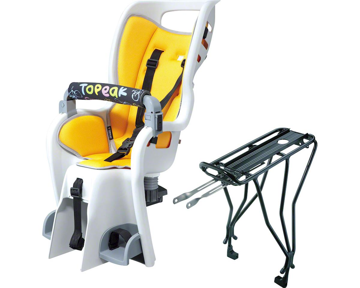 Topeak BabySeat II with Disc Compatible Rack: Yellow
