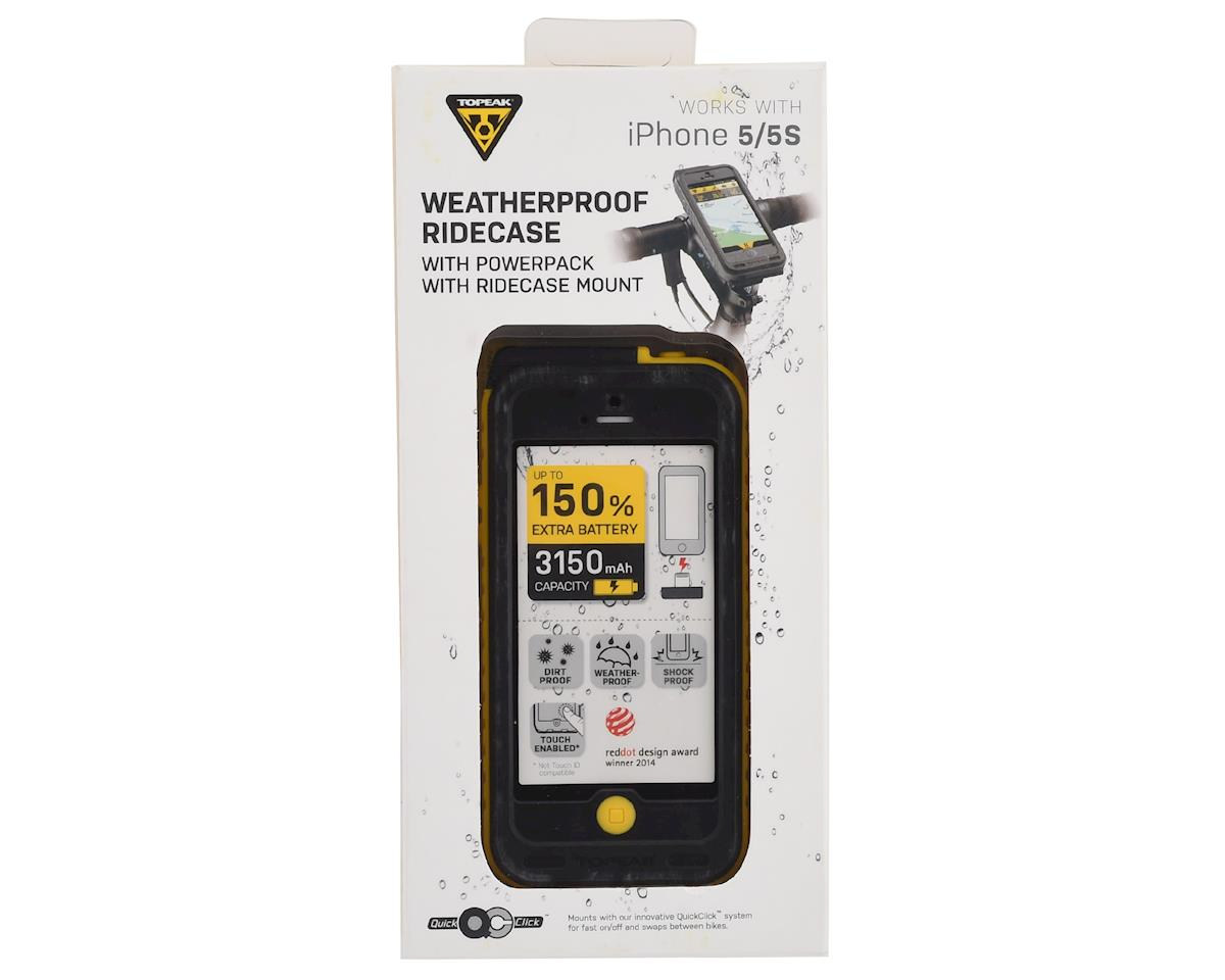 Topeak WeatherProof Ridecase w/ Battery (Black/Yellow) (iPhone SE/5/5s)
