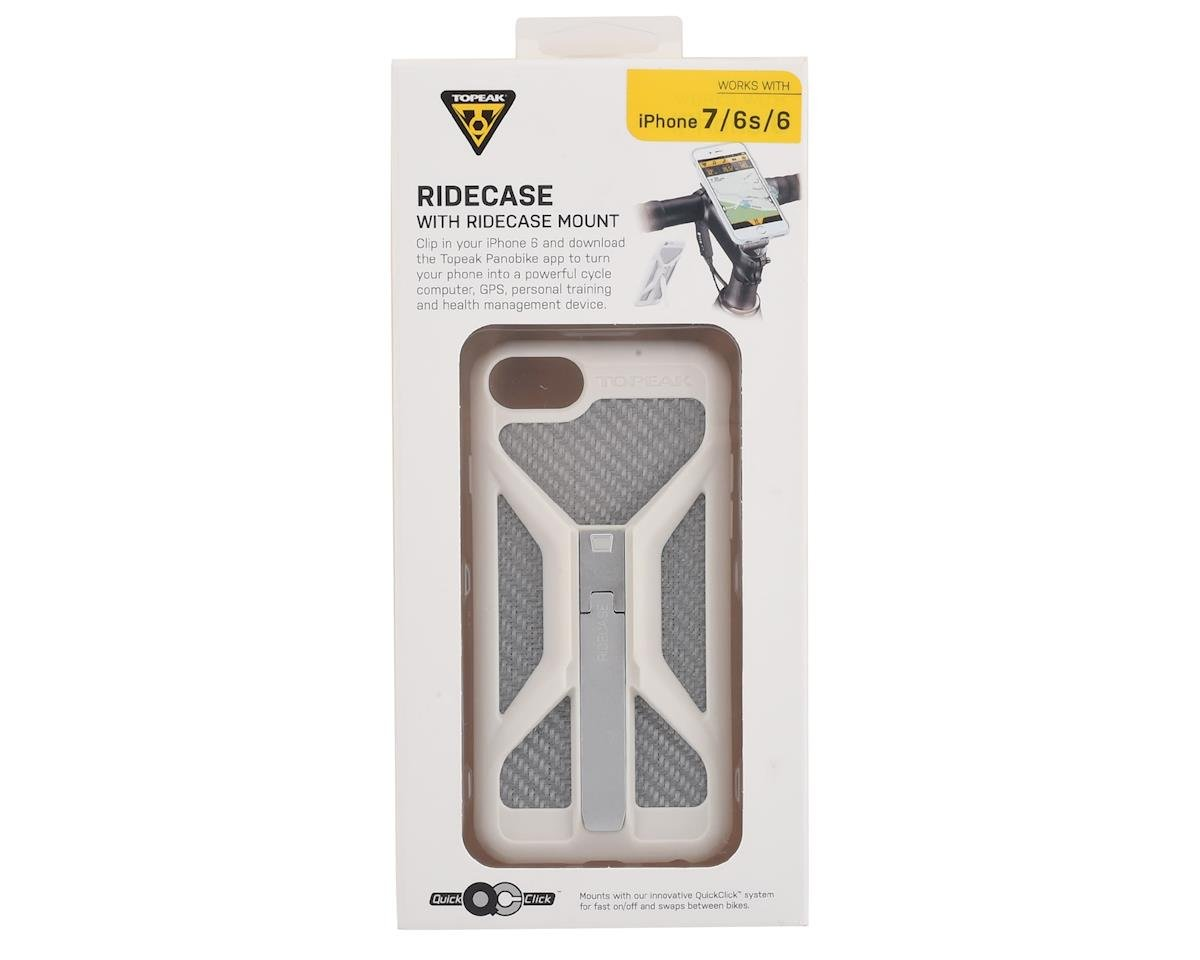 Topeak RideCase w/ RideCase Mount (White/Silver) (For iPhone 6/6s/7)