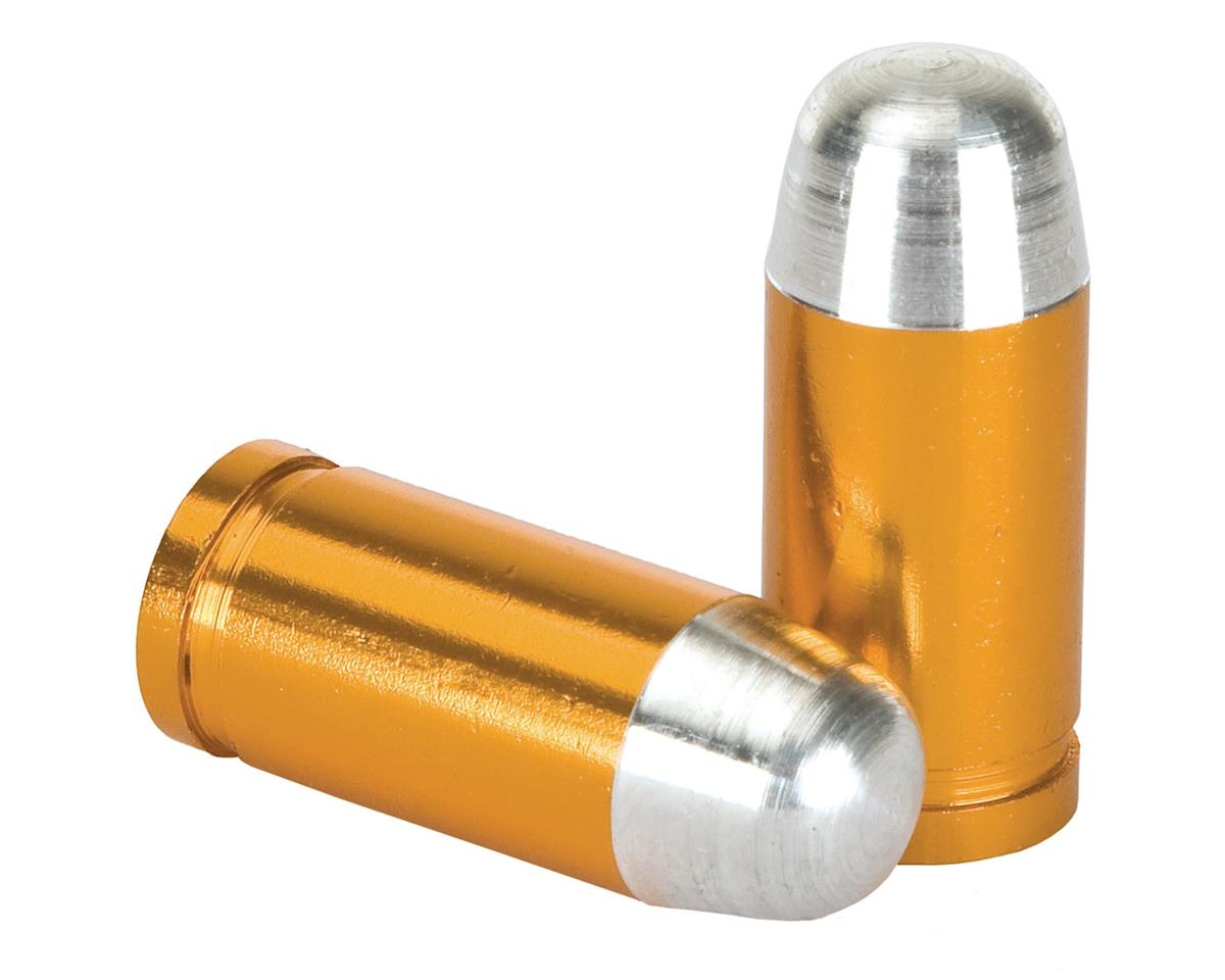 """Trik Topz """"Bullet Tip"""" Schrader Valve Stem Caps (Gold) (2)"""