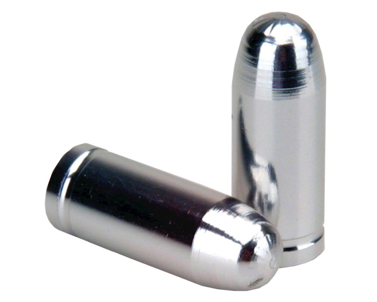 "Trik Topz ""Bullet Tip"" Schrader Valve Stem Caps (Silver) (2)"