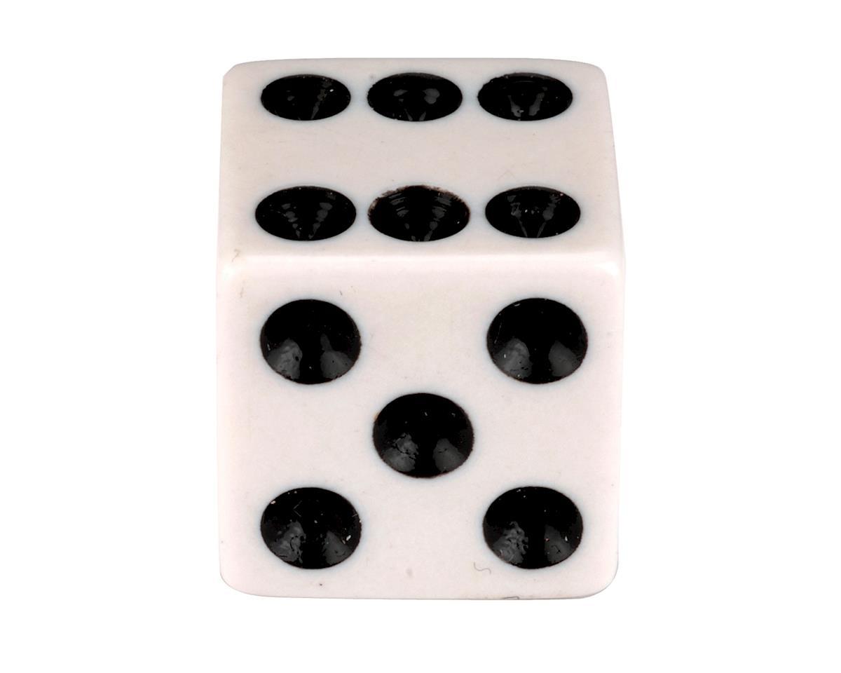 "Trik Topz ""Dice"" Schrader Valve Stem Caps (White) (2)"