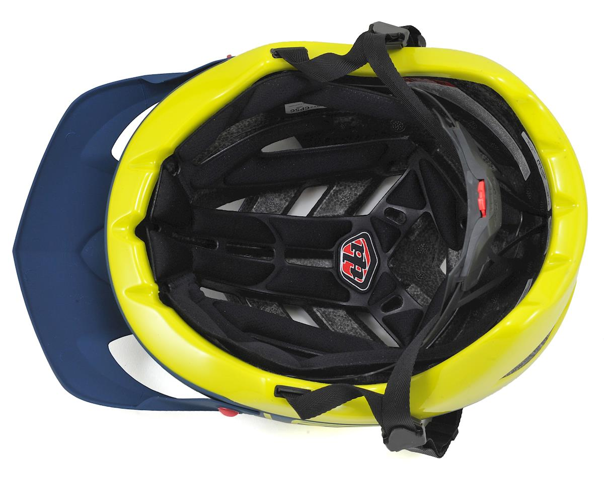 Troy Lee Designs A1 MTB Helmet (Drone Navy/Yellow) (XS/S)