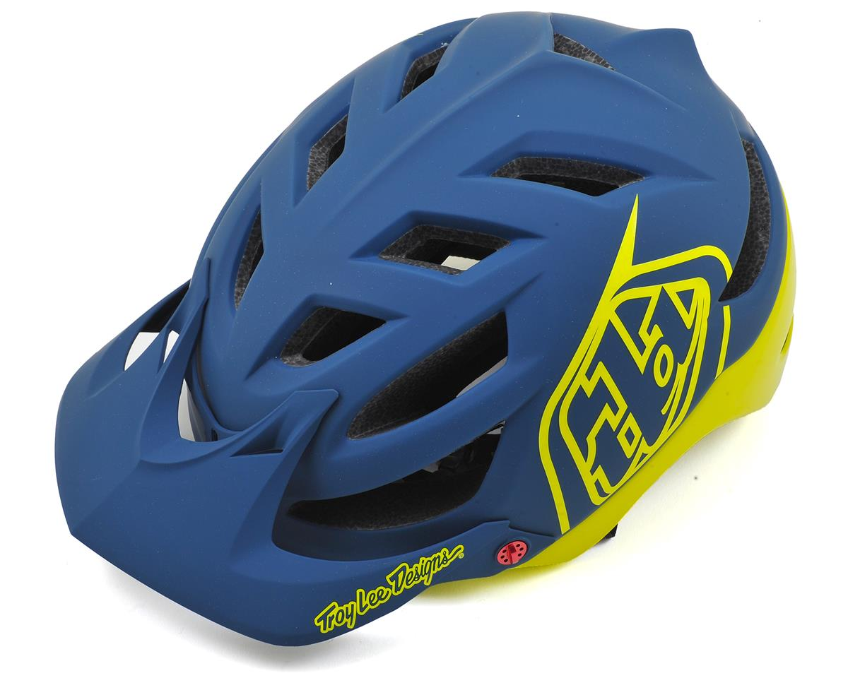 Troy Lee Designs A1 MTB Helmet (Drone Navy/Yellow) (XL/XXL)