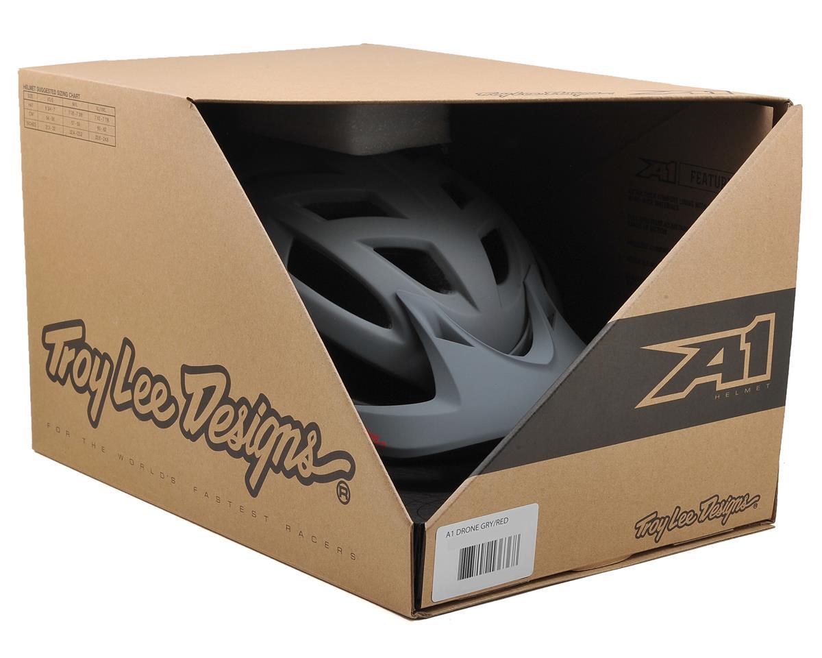 Troy Lee Designs A1 MTB Helmet (Drone Grey/Red) (XL/XXL)