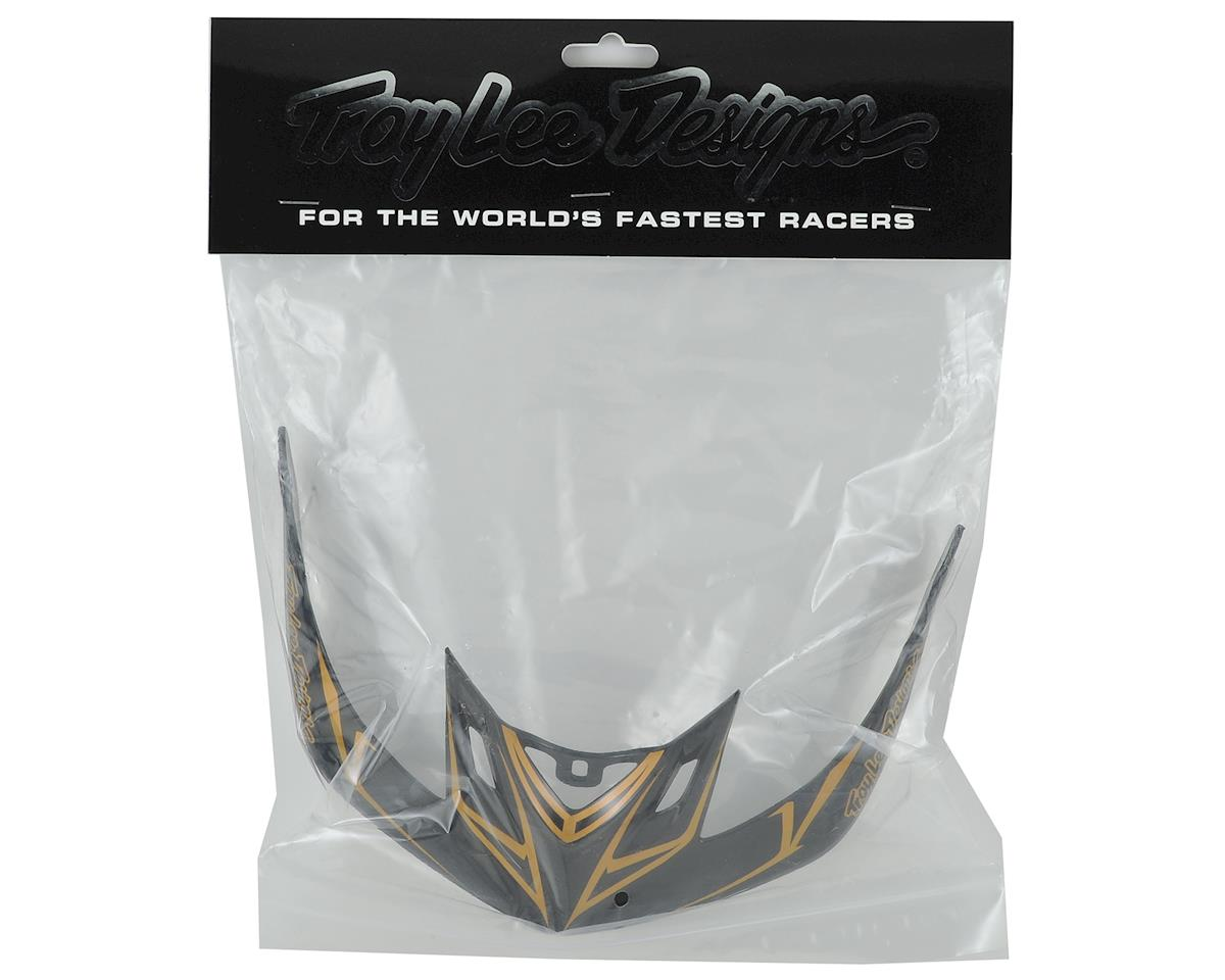 Troy Lee Designs A2 Helmet Visor for Pinstripe (Black/Gold)