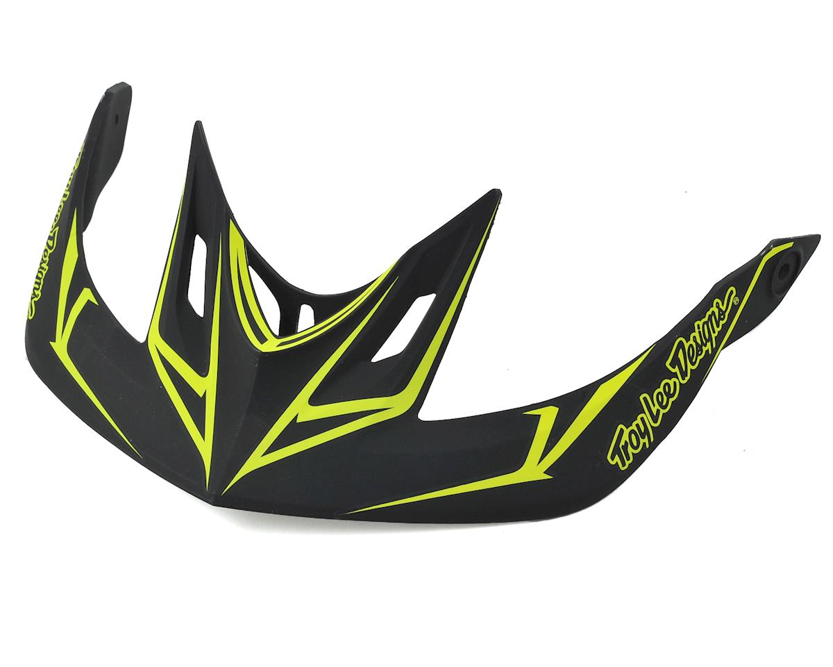 Troy Lee Designs A2 Helmet Visor for Pinstripe (Black/Yellow)