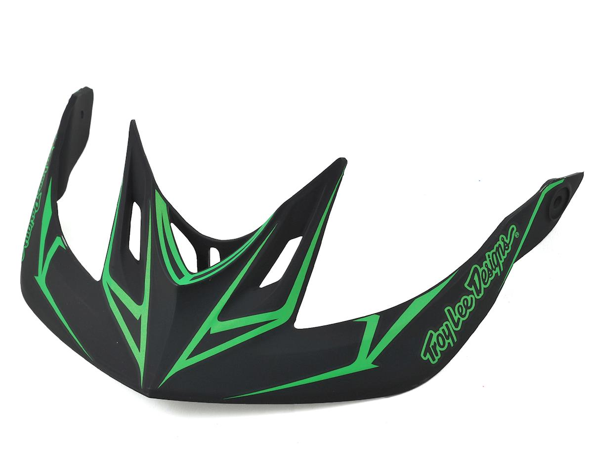 Troy Lee Designs A2 Helmet Visor for Pinstripe (Black/Green)