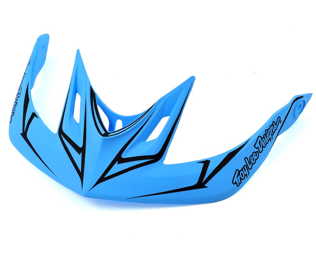 Troy Lee Designs A2 Helmet Visor for Pinstripe (Blue/Red)