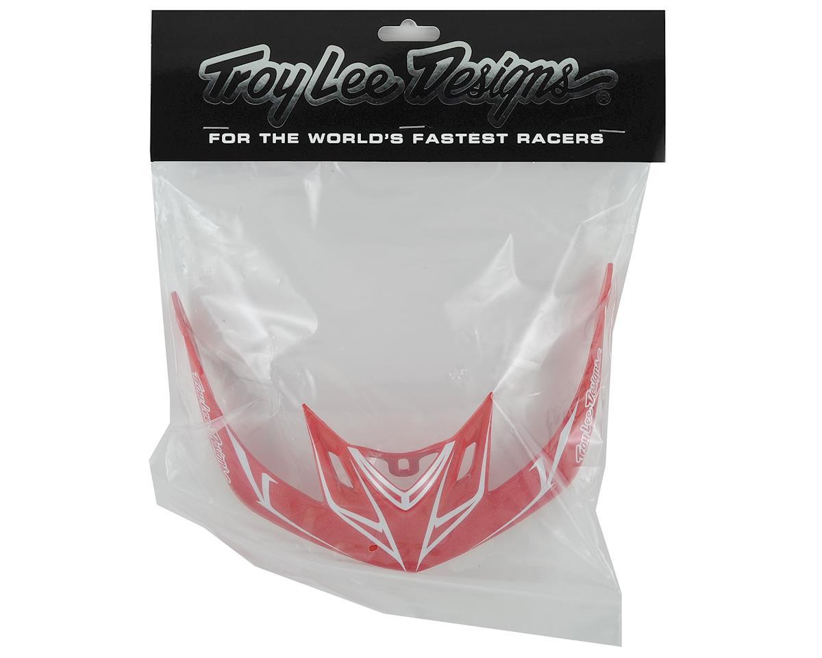 Troy Lee Designs A2 Helmet Visor for Pinstripe (Red/Black)