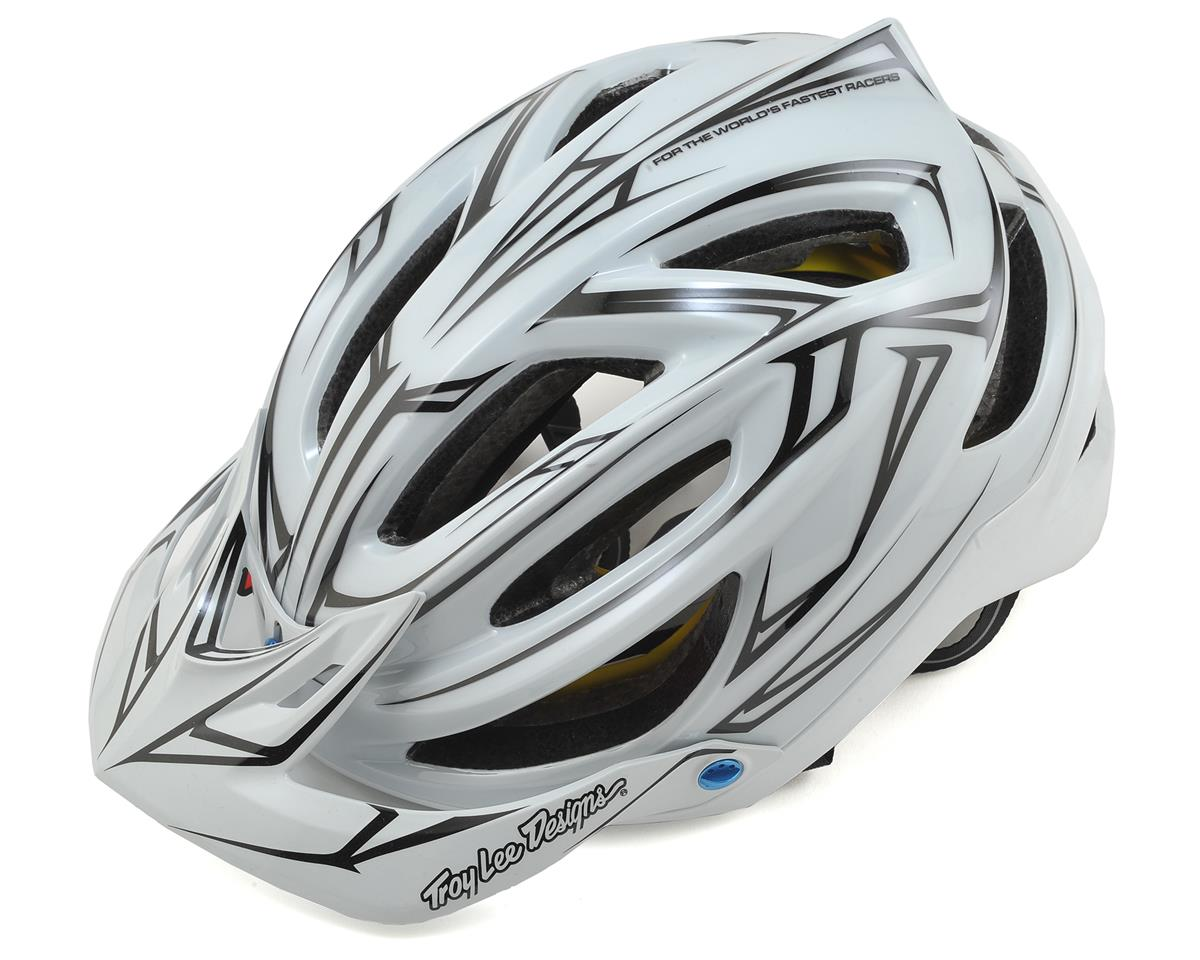 Troy Lee Designs A2 MIPS Helmet (Pinstripe White/Reflective)