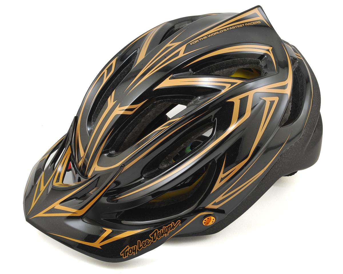 Troy Lee Designs A2 MIPS Helmet (Pinstripe Black/Gold)