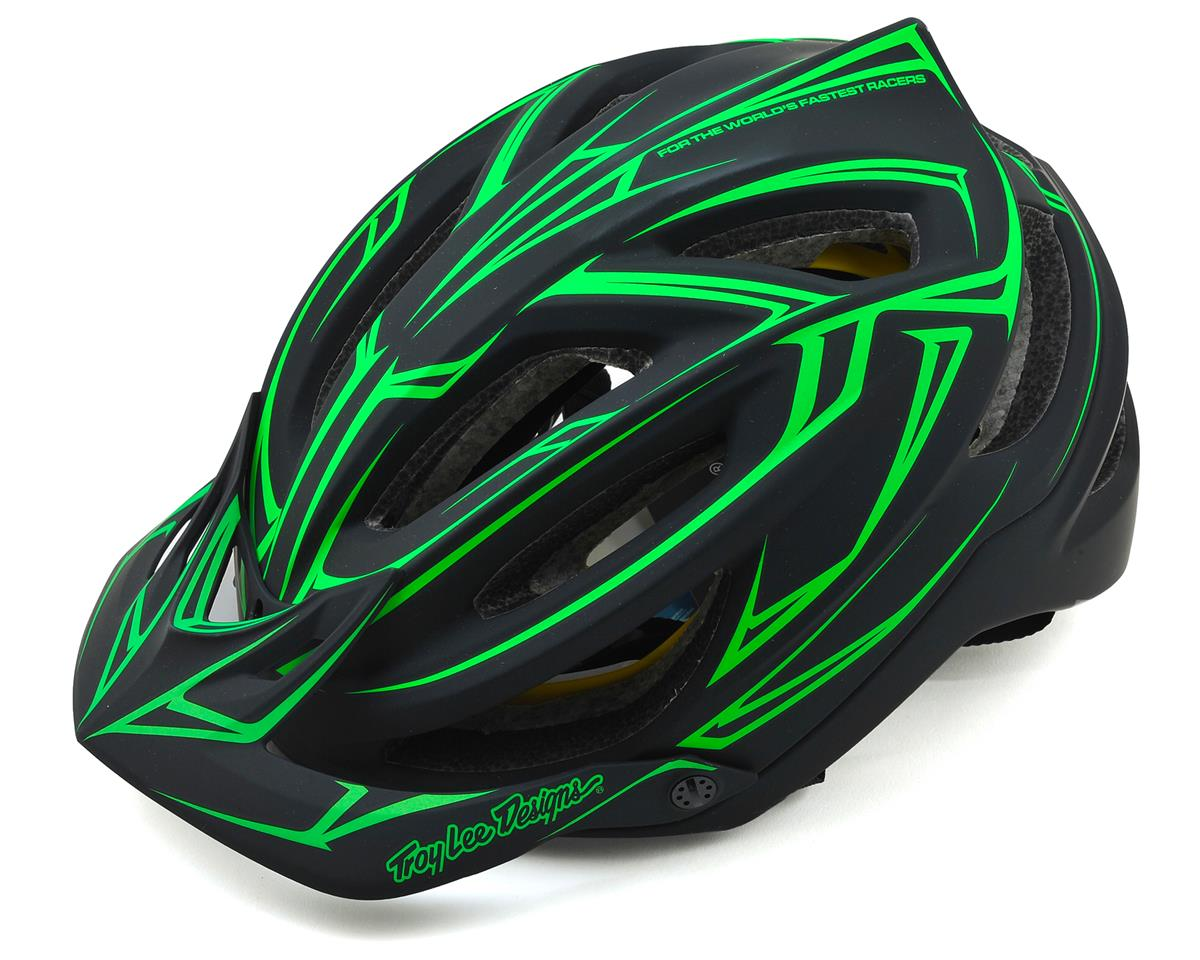 Troy Lee Designs A2 MIPS Helmet (Pinstripe Black/Green)