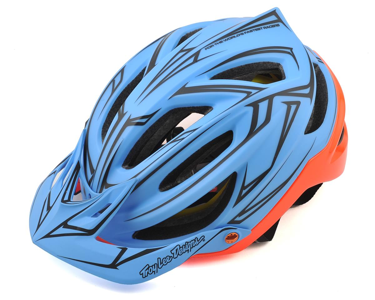 Troy Lee Designs A2 MIPS Helmet (Pinstripe Blue/Red)