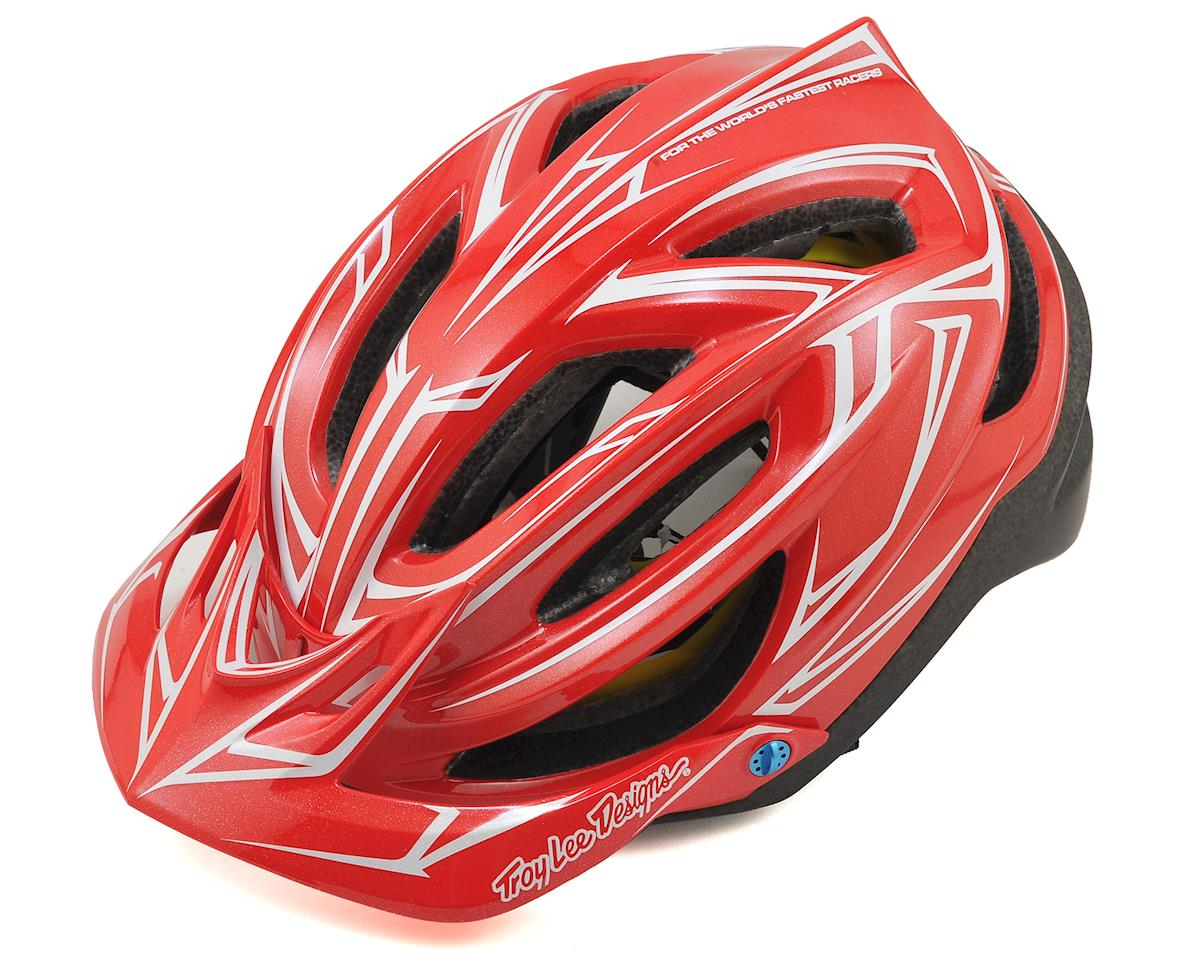 Troy Lee Designs A2 MIPS Helmet (Pinstripe Red/Black)
