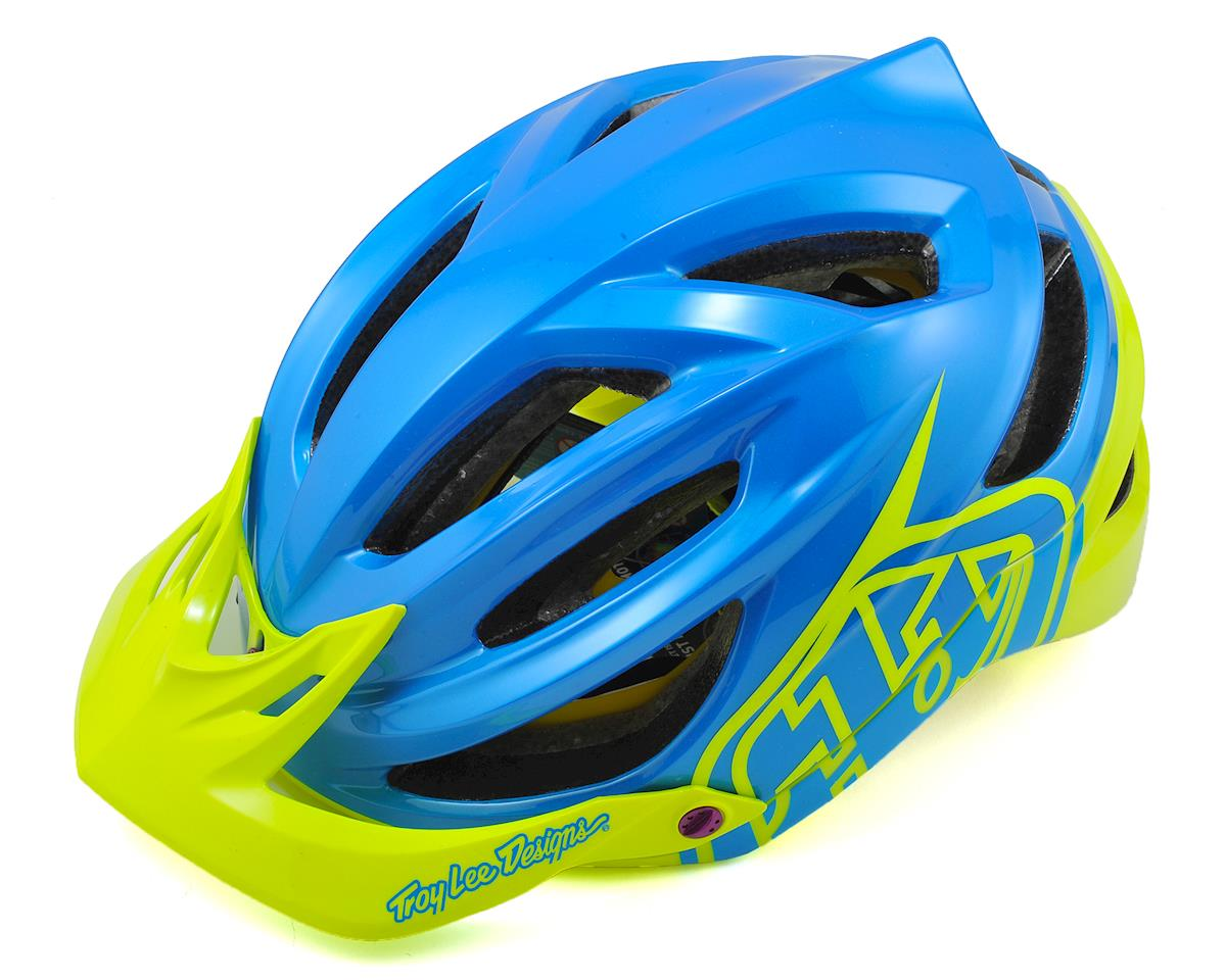Troy Lee Designs A2 MIPS Helmet (Decoy Cyan/Yellow)