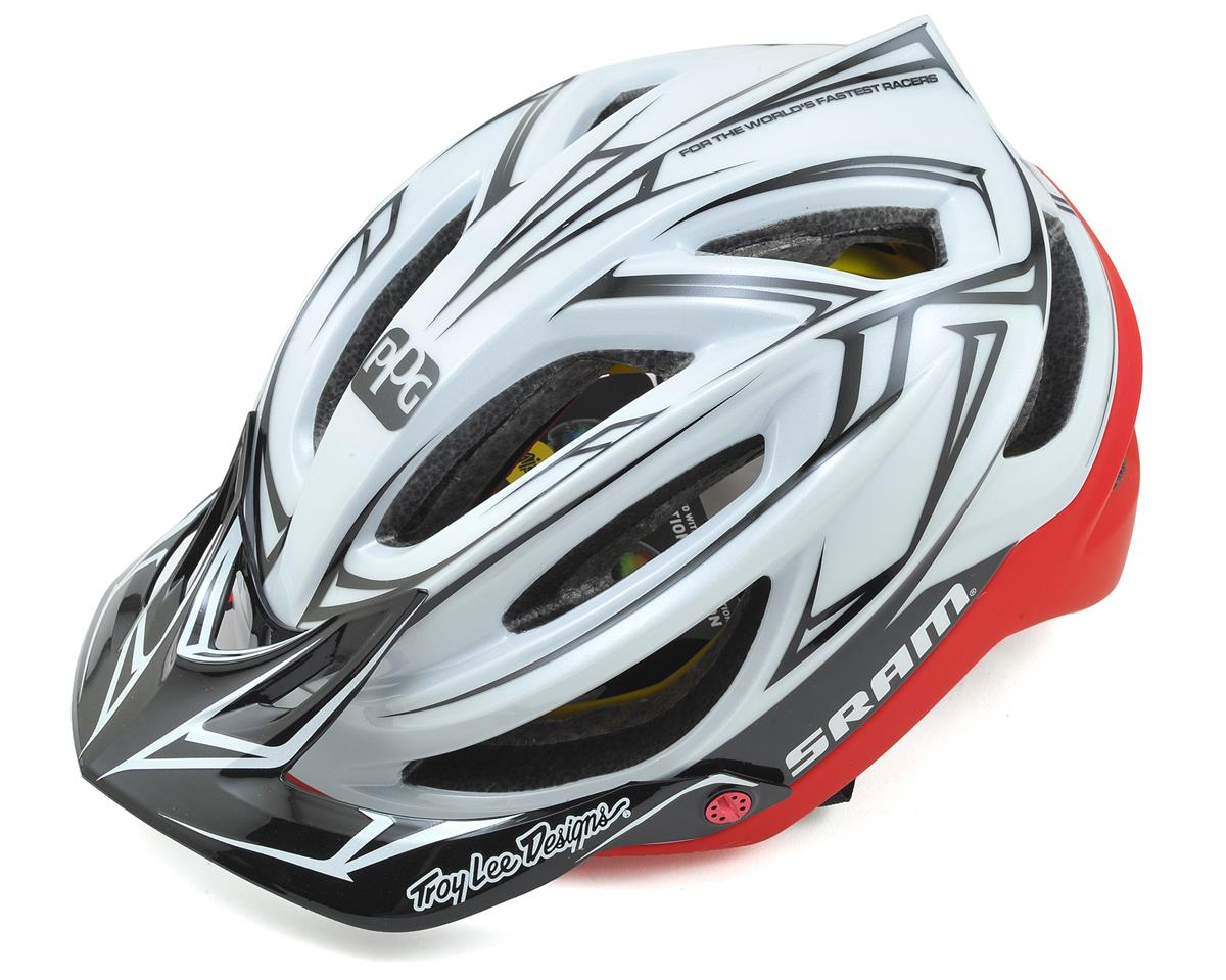 Troy Lee Designs A2 MIPS SRAM TLD Team Racing Helmet (White/Red)