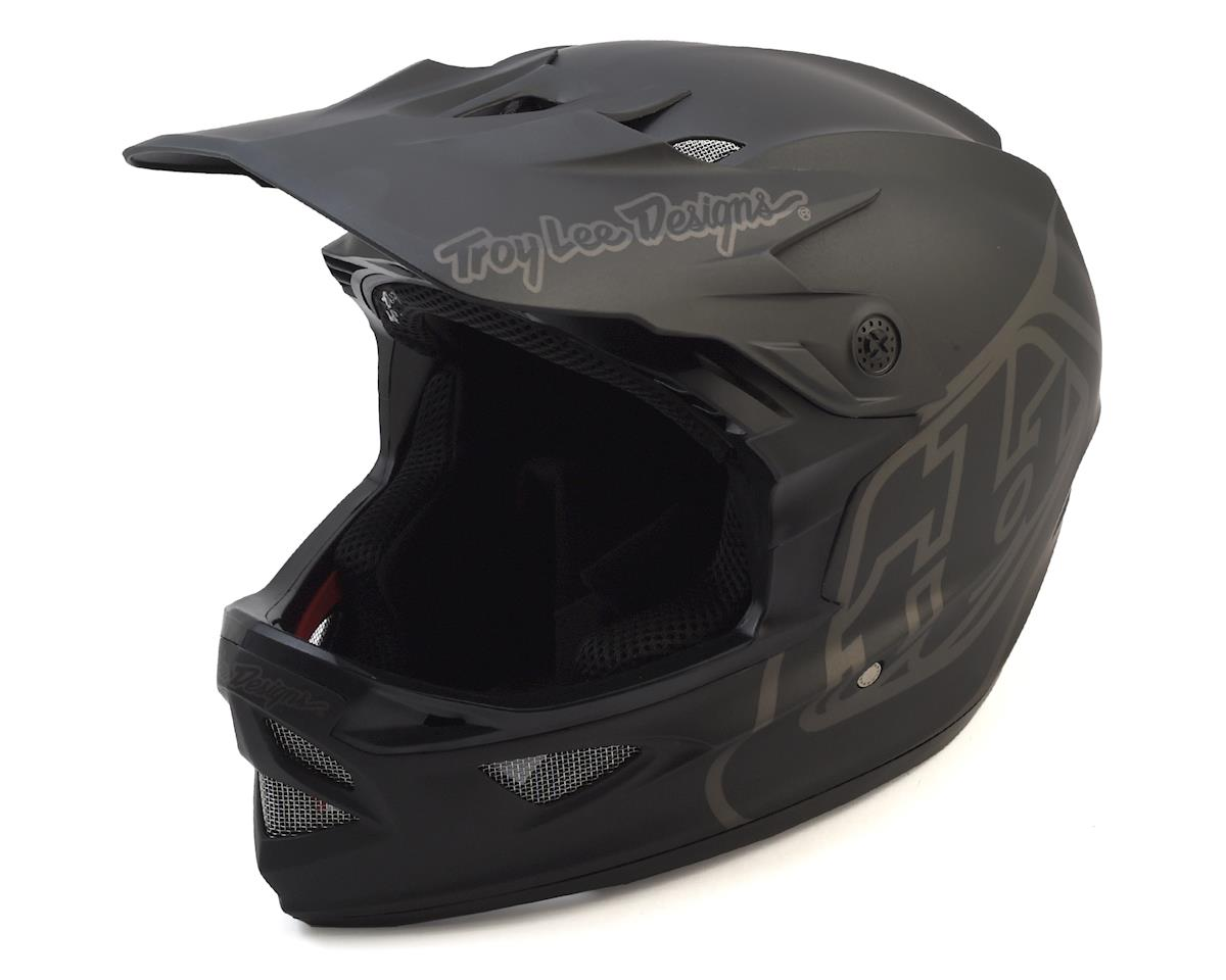 Troy Lee Designs D3 Fiberlite Full Face Helmet (Mono Black) (S)