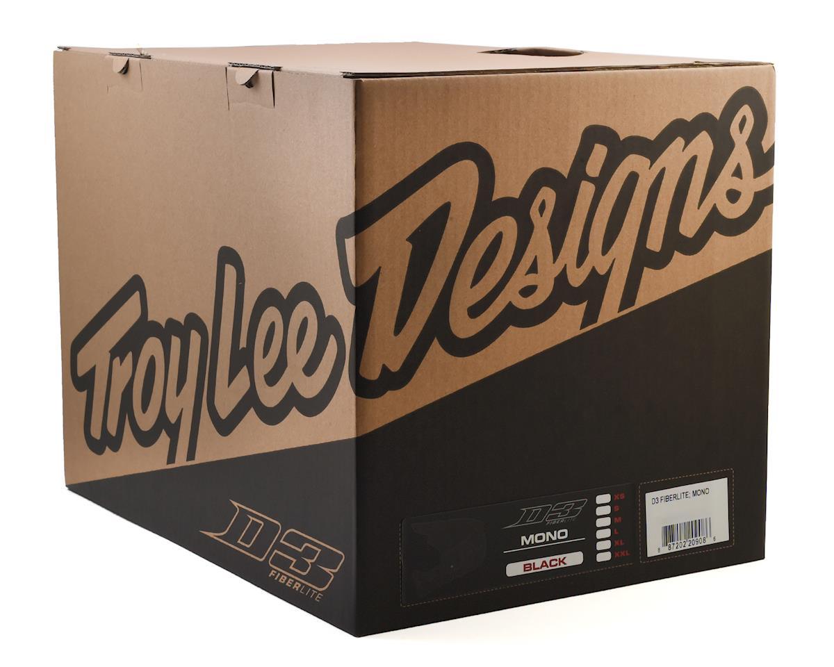 Troy Lee Designs D3 Fiberlite Full Face Helmet (Mono Black) (M)