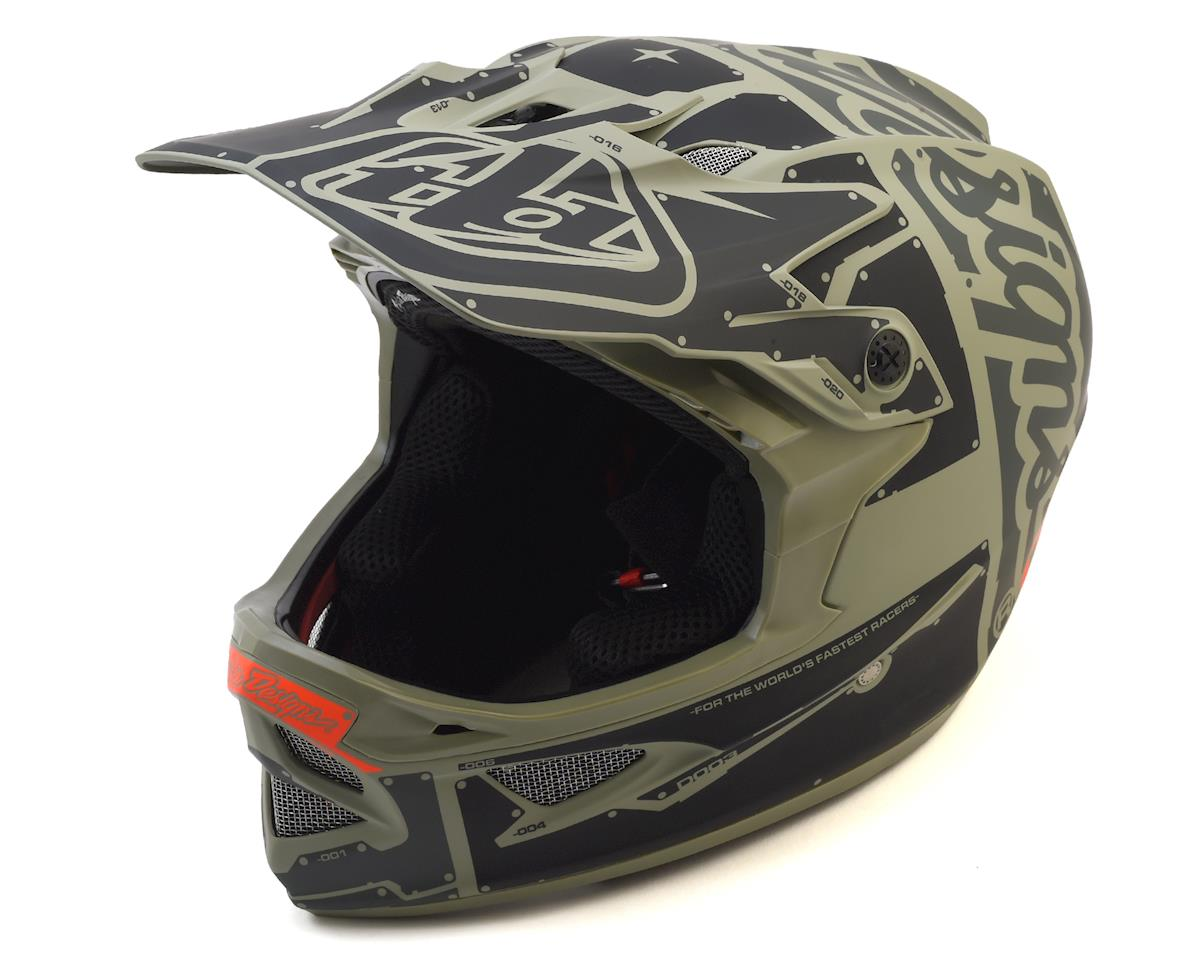 Troy Lee Designs D3 Fiberlite Full Face Helmet (Factory Trooper) (L)