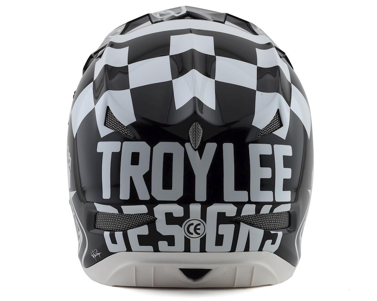 Image 2 for Troy Lee Designs D3 Fiberlite Helmet (Raceshop White) (S)