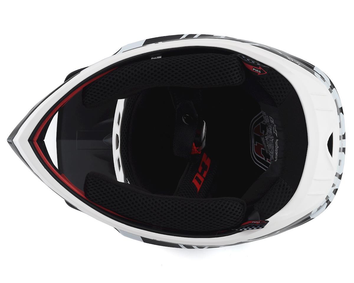 Image 3 for Troy Lee Designs D3 Fiberlite Helmet (Raceshop White) (S)