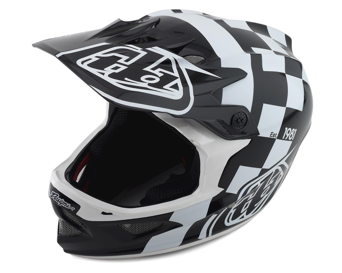 Troy Lee Designs D3 Fiberlite Helmet (Raceshop White) (L)