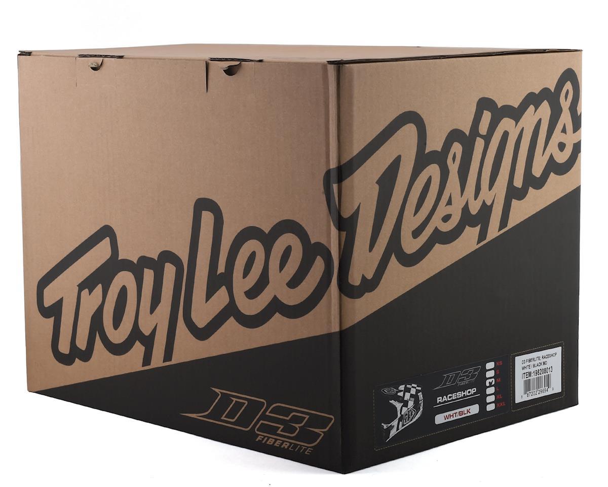 Image 4 for Troy Lee Designs D3 Fiberlite Helmet (Raceshop White) (L)