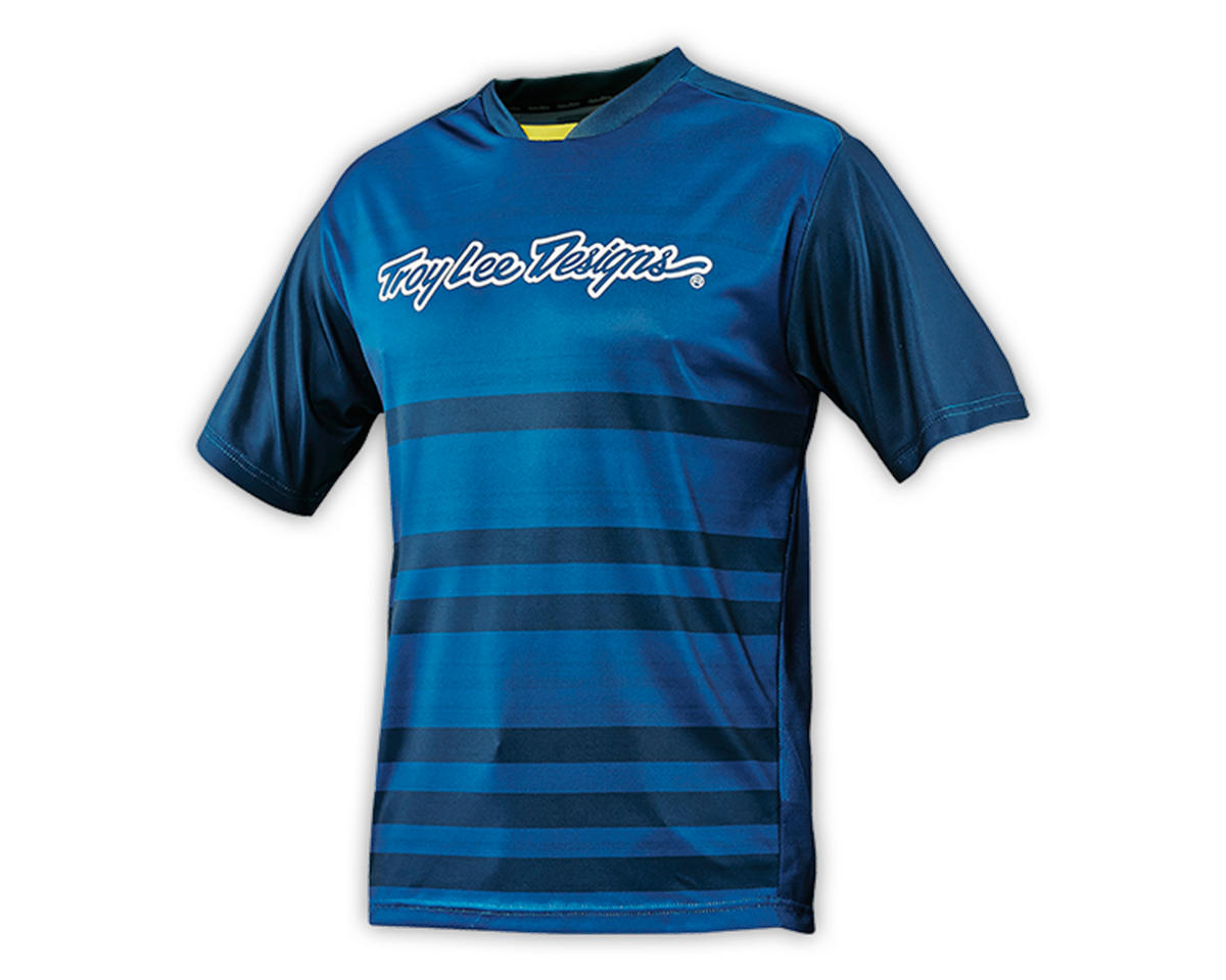 Troy Lee Designs Youth Skyline Jersey (Divided Dirty Blue) (L)