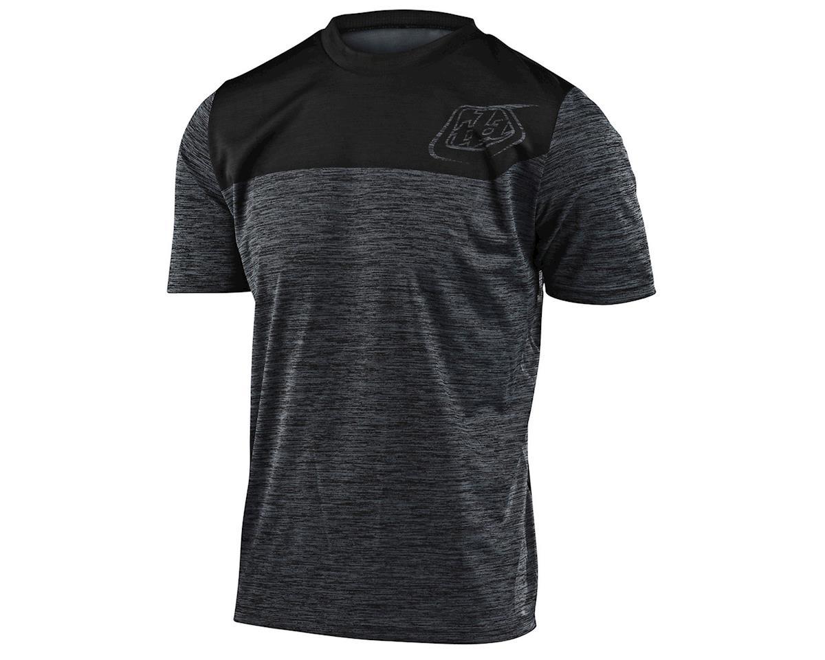 Troy Lee Designs Flowline Short Sleeve Jersey (Heather Black/Black) (L)