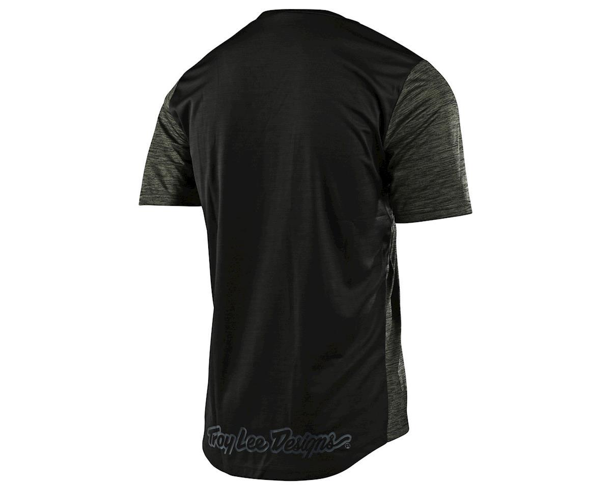 Image 2 for Troy Lee Designs Flowline Short Sleeve Jersey (Heather Green/Black) (S)