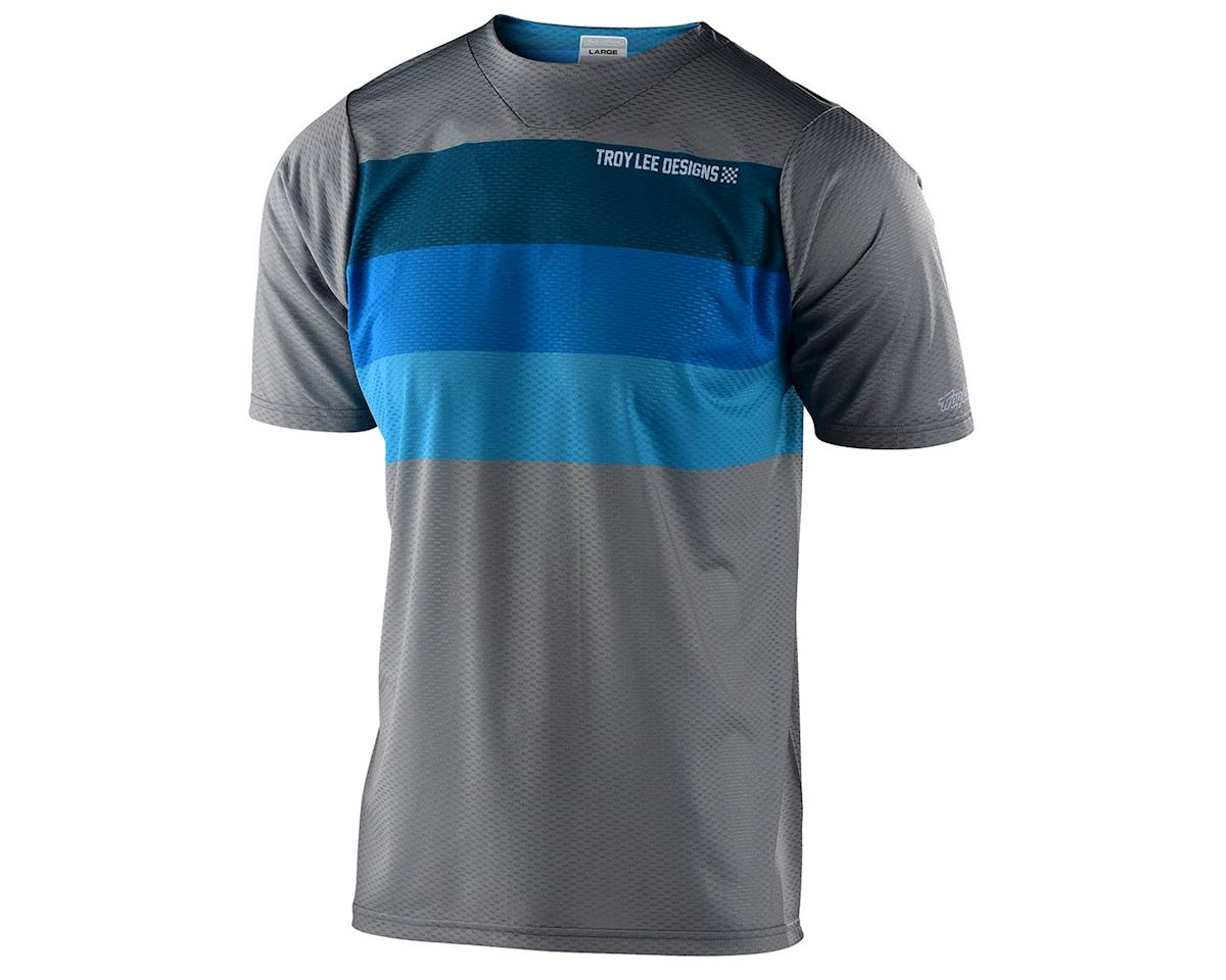 Troy Lee Designs Skyline Air Short Sleeve Jersey (Continental Grey/Blue) (L)