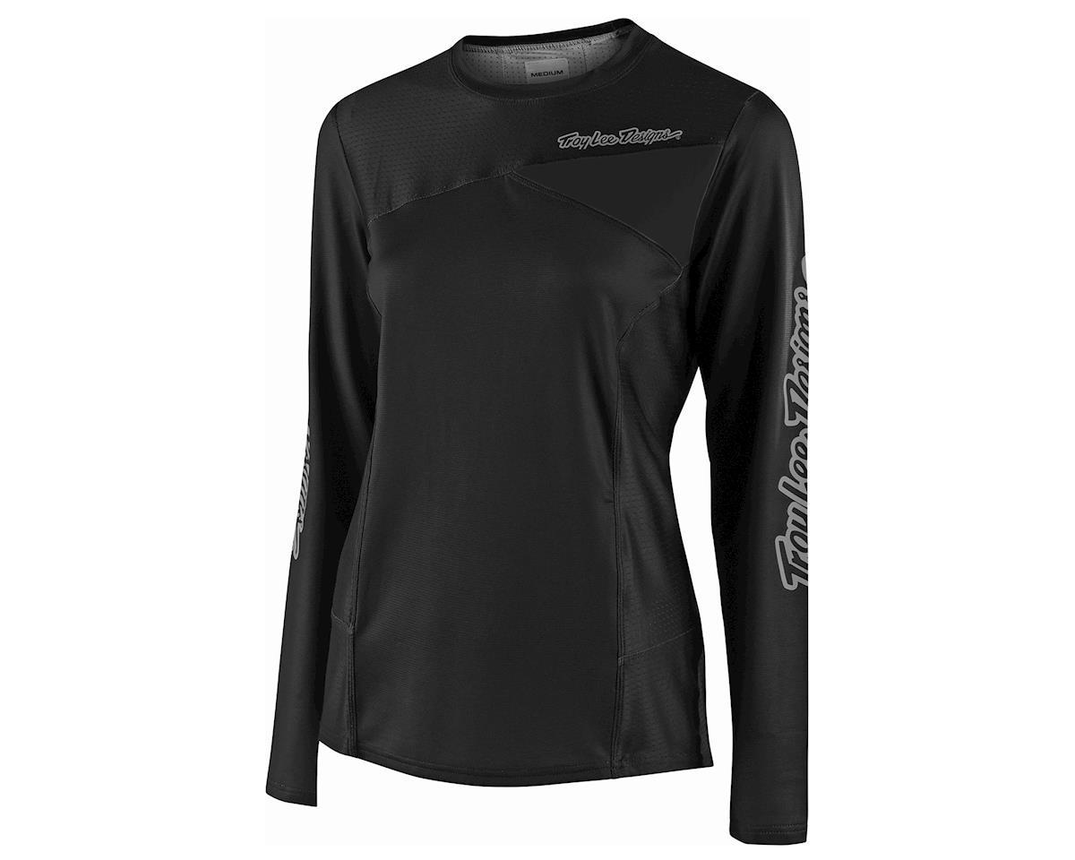 Troy Lee Designs Women's Skyline Long Sleeve Jersey (Black) (XL)